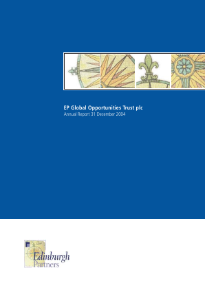 EP Global Opportunities Trust annual report 2004