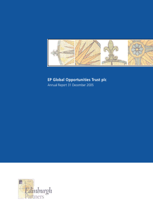 EP Global Opportunities Trust annual report 2005