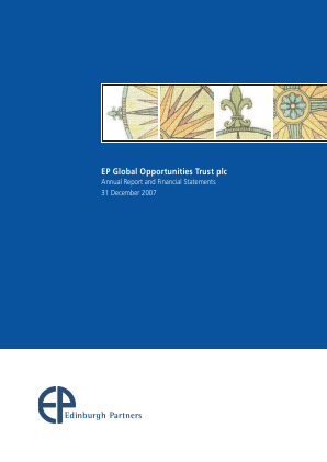 EP Global Opportunities Trust annual report 2007