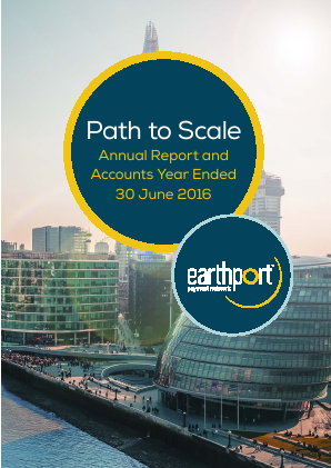 Earthport Plc annual report 2016