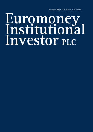 Euromoney Institutional Investor annual report 2009