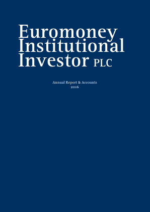 Euromoney Institutional Investor annual report 2016