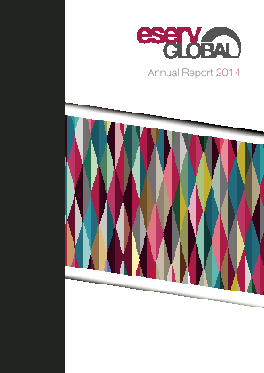 Eservglobal annual report 2014
