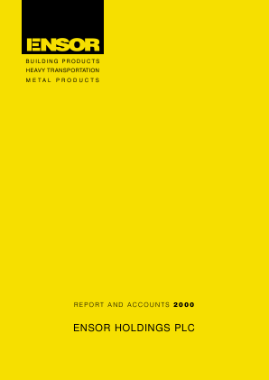 Ensor Holdings annual report 2000