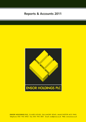 Ensor Holdings annual report 2011