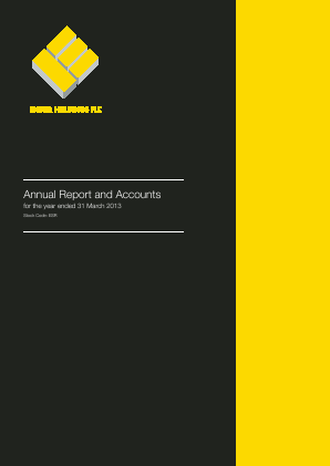 Ensor Holdings annual report 2013
