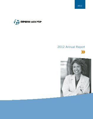 Express Scripts Holding annual report 2012
