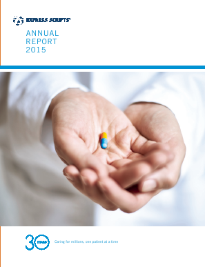 Express Scripts Holding Company annual report 2015