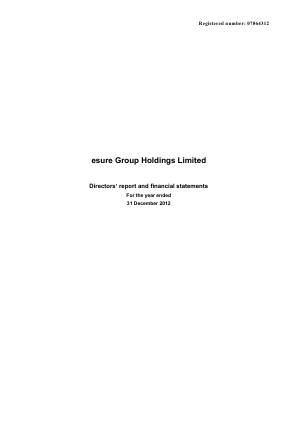Esure Group Plc annual report 2013
