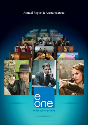 Entertainment One annual report 2012