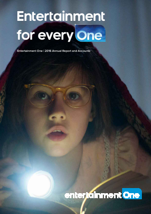Entertainment One Ltd annual report 2016