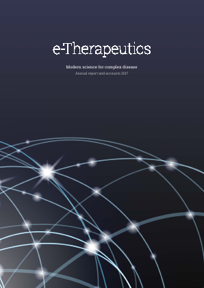 E-therapeutics Plc annual report 2017