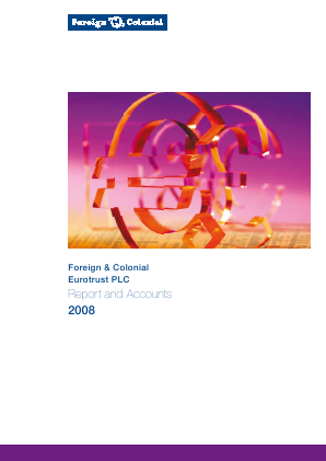 European Investment Trust Plc(The) annual report 2008