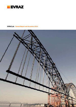 Evraz Plc annual report 2014