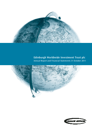 Edinburgh Worldwide Investment Trust annual report 2011