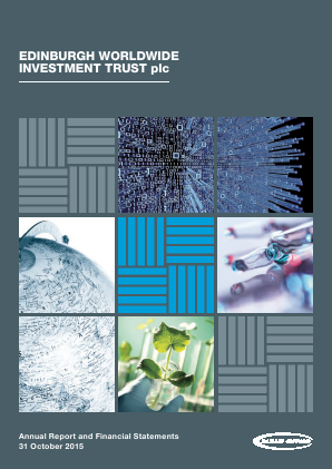 Edinburgh Worldwide Investment Trust annual report 2015