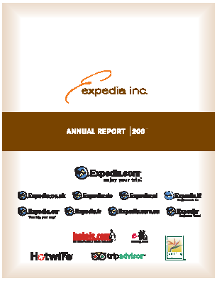 Expedia Inc. annual report 2005