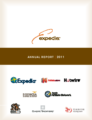 Expedia Inc. annual report 2011
