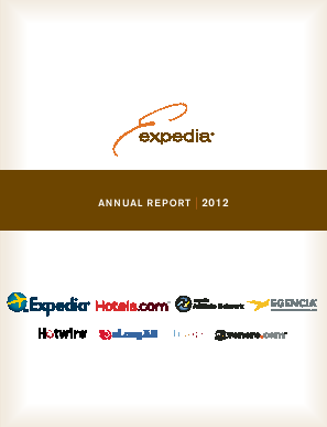 Expedia Inc. annual report 2012