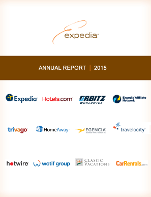 Expedia Inc. annual report 2015