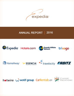 Expedia Inc. annual report 2016
