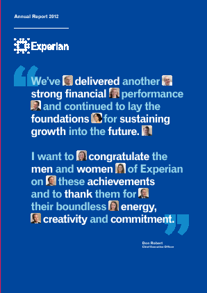 Experian Plc annual report 2012