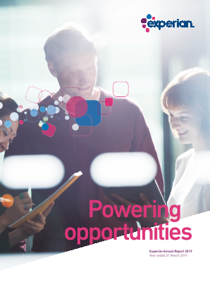 Experian Plc annual report 2019
