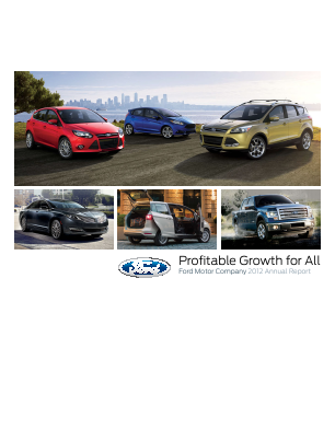 Ford Motor annual report 2012