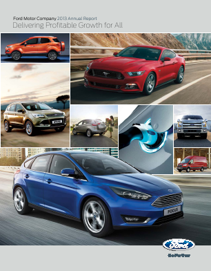Ford Motor annual report 2013