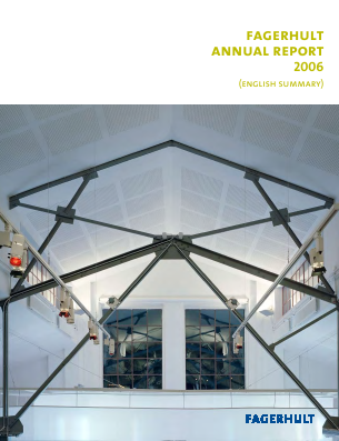 Fagerhult annual report 2006