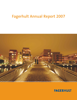 Fagerhult annual report 2007