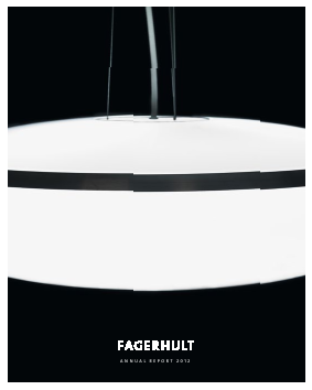 Fagerhult annual report 2012