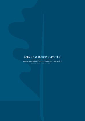 Fair Oaks Income Fund annual report 2017