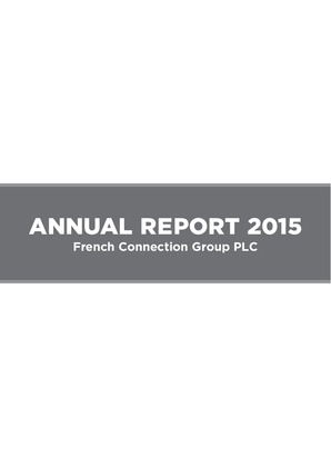 French Connection Group annual report 2015