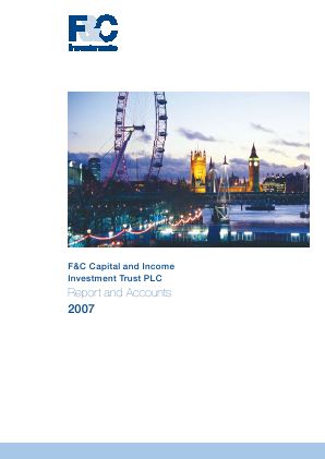 F&C Capital & Income Investment Trust annual report 2007