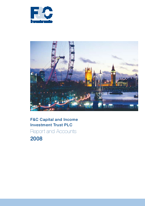 F&C Capital & Income Investment Trust annual report 2008