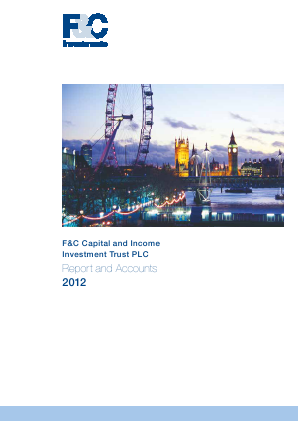 F&C Capital & Income Investment Trust annual report 2012