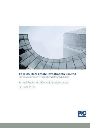 F&C UK Real Estate Investments annual report 2013