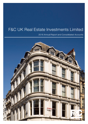 F&C UK Real Estate Investments annual report 2016