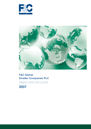 F&C Global Smaller Companies annual report 2007