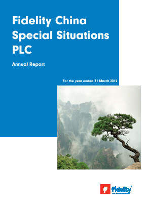 Fidelity China Special Situations annual report 2012