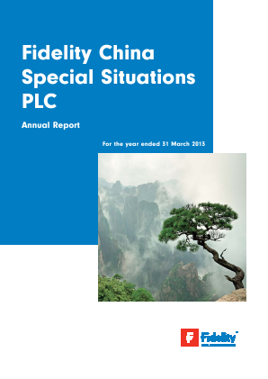 Fidelity China Special Situations annual report 2013