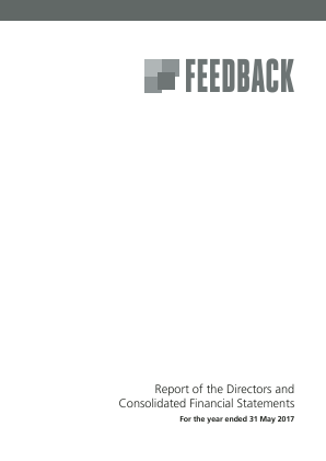 Feedback annual report 2017