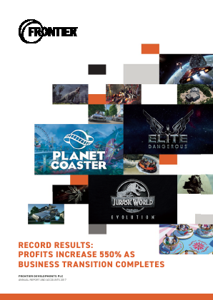 Frontier Developments Plc annual report 2017