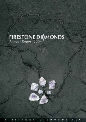 Firestone Diamonds annual report 2004