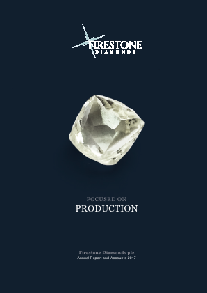 Firestone Diamonds annual report 2017