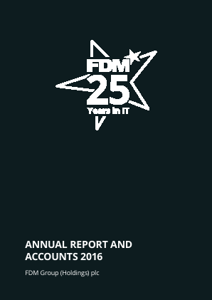 FDM Group Plc annual report 2016