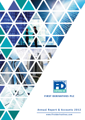First Derivatives Plc annual report 2012