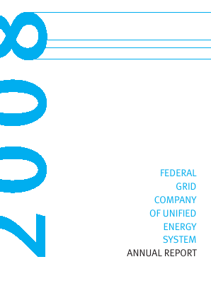 Federal Grid Company of Unified Energy Systems annual report 2008