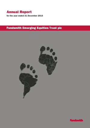 Fundsmith Emerging Equities Trust Plc annual report 2015